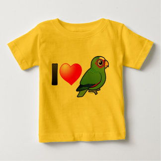 I Love White-fronted Amazons Baby T-Shirt