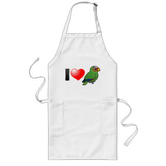 I Love White-fronted Amazons Long Apron