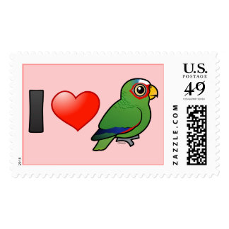 I Love White-fronted Amazons Stamps