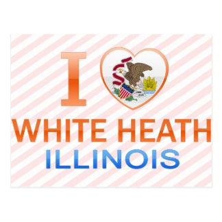 I Love White Heath, IL Postcard