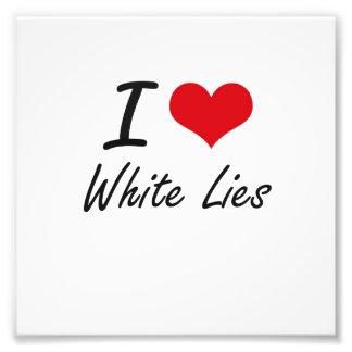 I love White Lies Photo Print