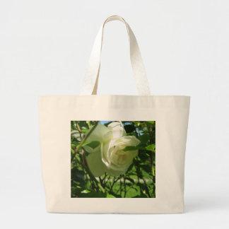 I Love White Roses Tote Bag