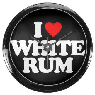 I LOVE WHITE RUM AQUARIUM CLOCK