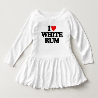 I LOVE WHITE RUM DRESS