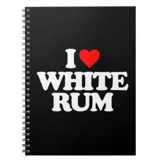 I LOVE WHITE RUM SPIRAL NOTEBOOKS