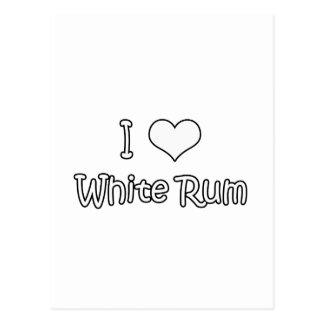 I Love White Rum Postcard