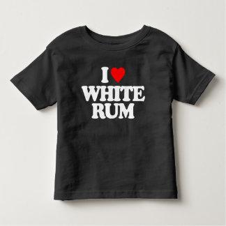 I LOVE WHITE RUM TODDLER T-SHIRT