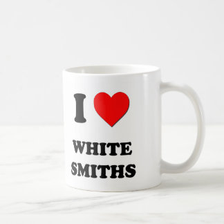 I Love White Smiths Classic White Coffee Mug
