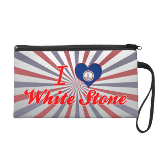 I Love White Stone Virginia Wristlet Purse