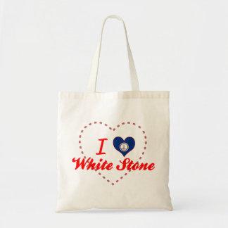 I Love White Stone Virginia Bag