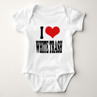I Love White Trash Baby Bodysuit
