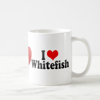 I Love Whitefish Coffee Mug
