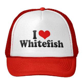 I Love Whitefish Mesh Hat