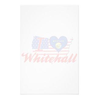 I Love Whitehall, Montana Personalized Stationery