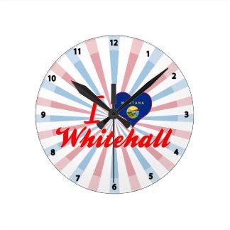 I Love Whitehall, Montana Round Wallclock