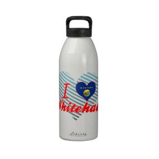I Love Whitehall, Montana Water Bottles