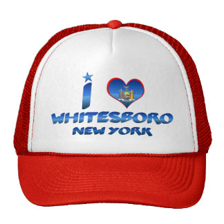 I love Whitesboro, New York Trucker Hats