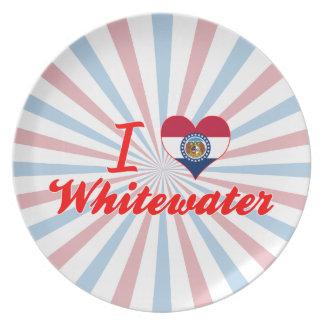 I Love Whitewater, Missouri Party Plates