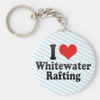 I Love Whitewater Rafting Key Chains