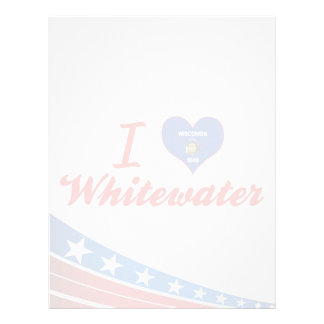 I Love Whitewater, Wisconsin Customized Letterhead