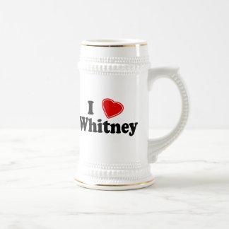 I Love Whitney Beer Stein