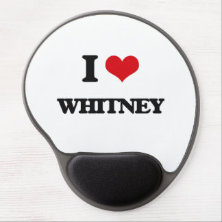 I Love Whitney Gel Mouse Pad