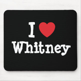 I love Whitney heart T-Shirt Mouse Pad