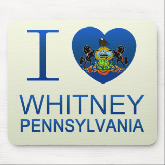 I Love Whitney, PA Mouse Pad