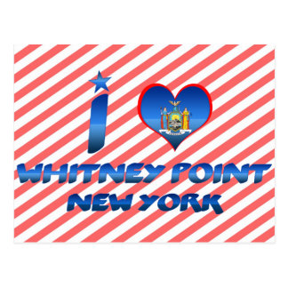 I love Whitney Point, New York Postcard