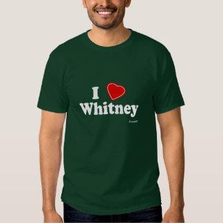 I Love Whitney T Shirt