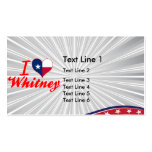 I Love Whitney, Texas Business Card Template
