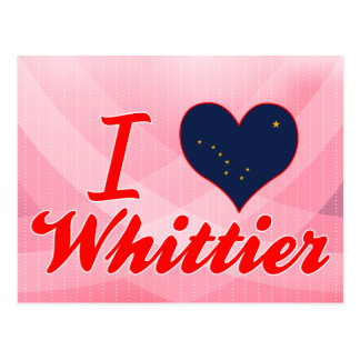 I Love Whittier, Alaska Postcard
