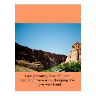 I LOVE WHO I AM! POSTCARD