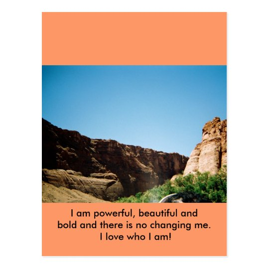 I LOVE WHO I AM! POSTCARD