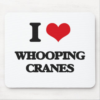 I love Whooping Cranes Mousepads