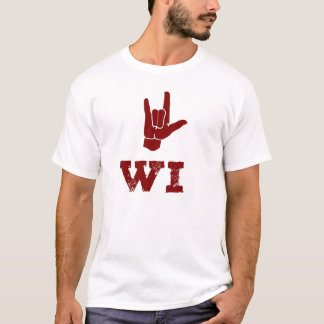 I LOVE WI (Red) T-Shirt