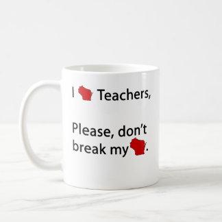 I love WI teachers Classic White Coffee Mug