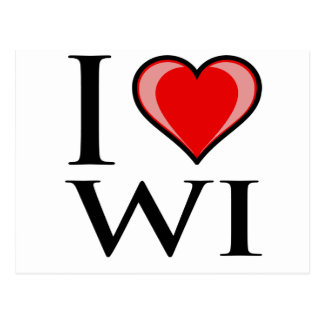 I Love WI - Wisconsin Postcard