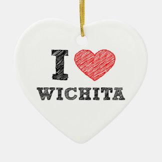 I-Love-Wichita Ceramic Ornament