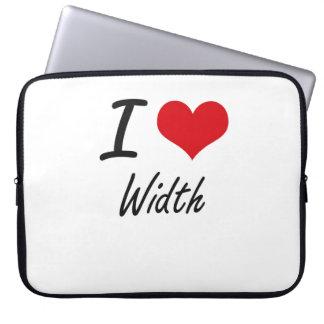 I love Width Computer Sleeve