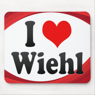 I Love Wiehl Germany Ich Liebe Wiehl Germany Mouse Pad