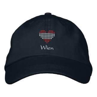I Love Wien Cap - Austrian Heart Flag Hat