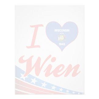 I Love Wien, Wisconsin Letterhead Design
