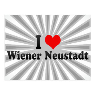 I Love Wiener Neustadt, Austria Postcard