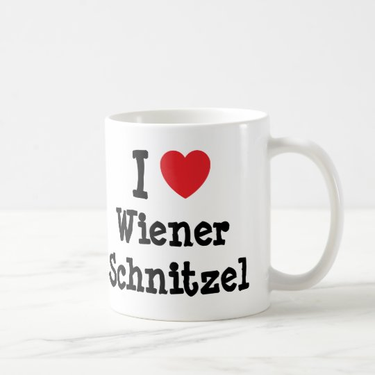 I love Wiener Schnitzel heart T-Shirt Coffee Mug