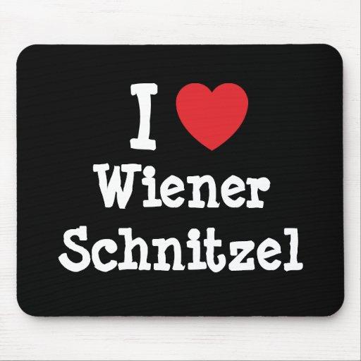 I love Wiener Schnitzel heart T-Shirt Mouse Mat