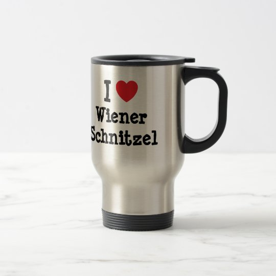 I love Wiener Schnitzel heart T-Shirt Travel Mug