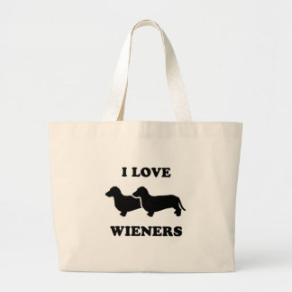I Love wieners 2 Jumbo Tote Bag