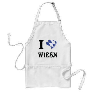 I love wiesn icon adult apron