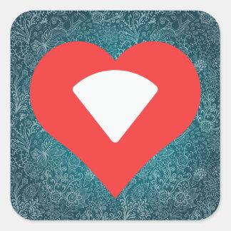 I Love Wifi Signals Cool Symbol Square Sticker